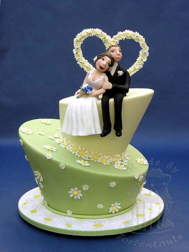 Ausgefallene Torten - Brautpaar