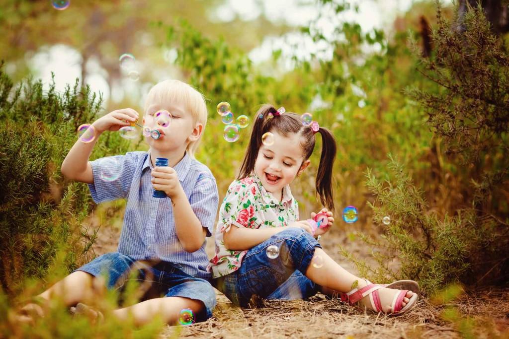Spaß mit Seifenblasen