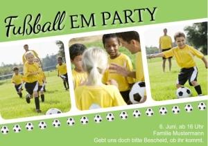Einladungskarte Fußballparty