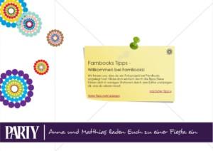 Einladungskarte im Editor