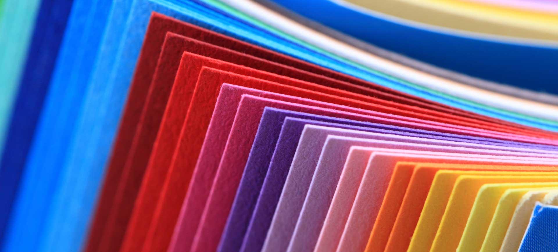 Farbliche Gestaltung Karten