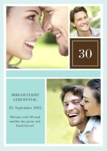 Geburtstagseinladung zum 30ten