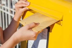 Kommunionskarte mit der Post versenden