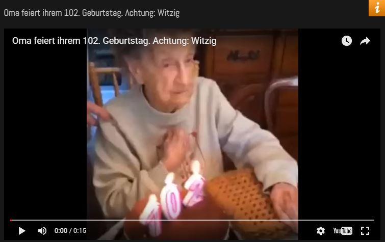Oma feiert 102. Geburtstag