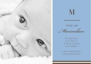 Einladungskarte Taufe Theodor von FamBooks
